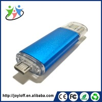 Ex-Factory Price Dual Double Plug Interface Otg Mobile Phone Pc Mini Usb Super Slim Usb Flash Drive