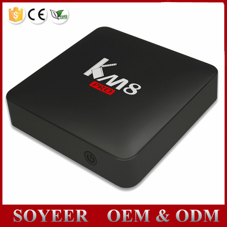 Ip Tv Box Km8 Pro Amlogic S912 Octa Core Android 6.0 Marshmallow K3 Android Tv Box