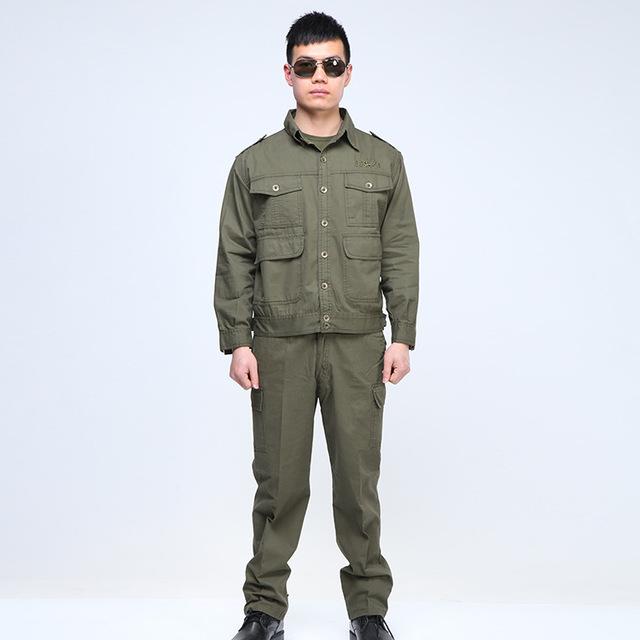 Wholesale mechanics camouflage labour work shirts pants jacket engineer uniform work clothes