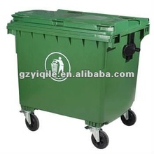 Outdoor HDPE plastic garbage container 660L