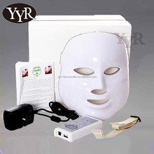 YYR high quality home use beauty equipment 3 color photon therapy led facial mask