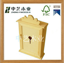 wholesale unfinished decorative promotional antique home wooden wall hanging key box