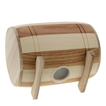 Wood factory handmade FSC unfinished cute drum design wooden money box