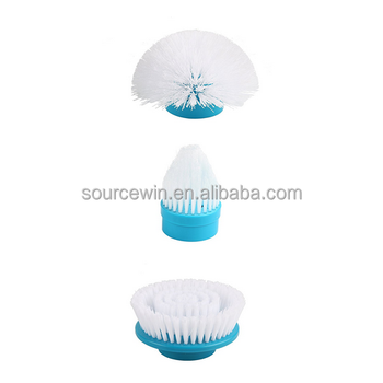 Popular High quality Spin scrubber cleaning brush, 360 Spin Cordless Power Scrubber with Three brush Heads Cleaning Kit