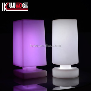 outdoor rechargeable decorative cordless LED table lamp with shape
