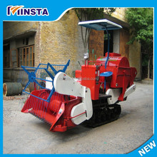 mini tractor combine grain paddy rice wheat harvester for sale
