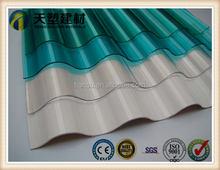 Clear polycarbonate plastic corrugated roof sheets