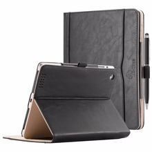Book Flip Smart Leather Case Cover For iPad 2 3 4 With Built-in Magnet And Sleep Awake Tablet Case For Apple iPad 2 3 4