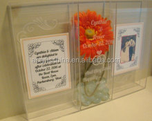 Custom Printed Acrylic Keepsake Shadow Box frame Wedding Gift Ceremony
