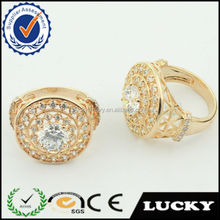 Best hot wholesale gold white stone plate vampire wedding rings