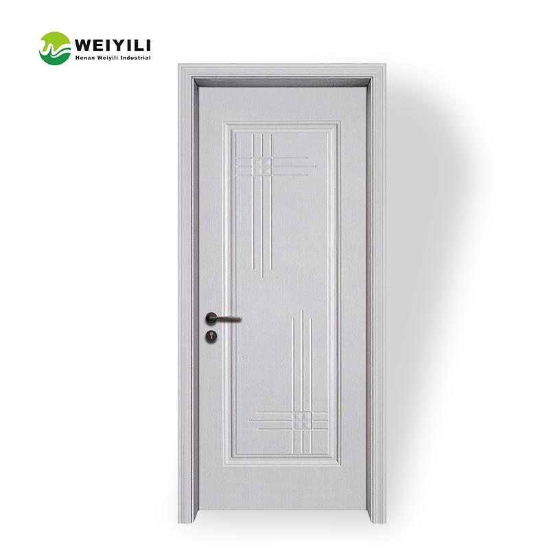Hdf Bamboo Wood Material Frameless Interior Door Buy Frameless