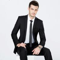 Wholesale Black Pant Coat Design Men wedding suits Classic Gentleman Suits
