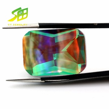 Wholesale price synthetic cushion cut color change glass price gemstone