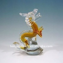 China Art Dragon Shaped Vintage Glass Ornament
