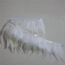 Top Quality White Rooster Feather Trims Saddle hackle feathers dress