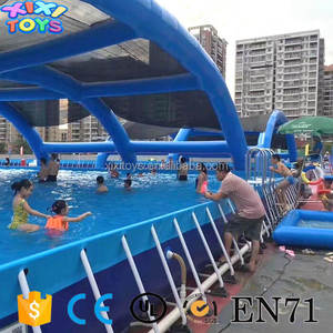 Popular outdoor metal frame PVC water pool for summer water park toys