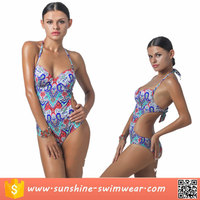 2016 Fashion OEM Girl Custom Digital Printed Swimwear Bikini