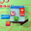 Cartonn Logo promotion gifts epoxy resin fridge magnetic with plastic box packing