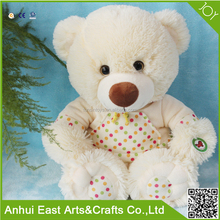 SOFT AND COMFORTABLE WHITE PLUSH TEDDY BEARS FOR BEDDING OR WATCHING TV AND PROMOTIONAL GIFT