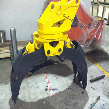 yantai construction machinery wood grapple excavator/grapple scrap for sale