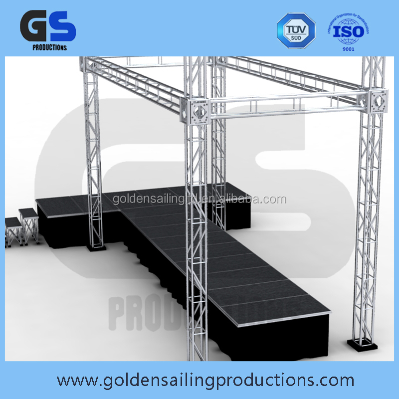 Flat roof lighting aluminum truss system , fashion show runway stage equipment truss