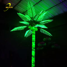 Green LED Coconut Palm Tree Light for holiday event decoration