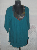 Ethnic Clothing / Designer Fashion Tunic Top/ Blouse/ Neck Pattern loose Top