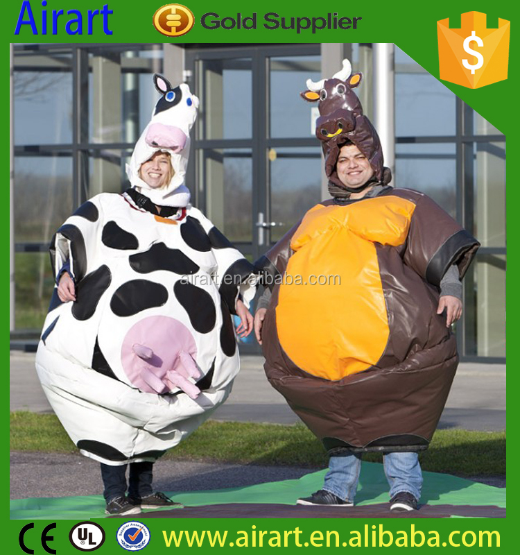 special cow/ bull shape amazing inflatable sumo suits for kids and adults