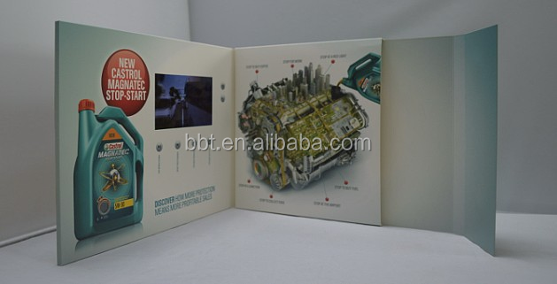 factory supply 7inch video brochure with stand