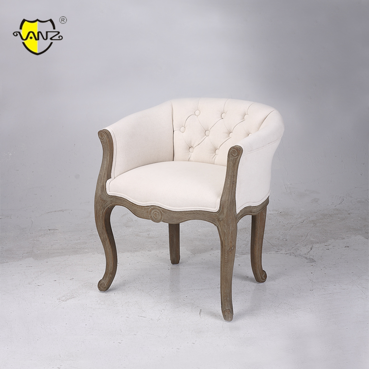 Shabby Chic Chair Antique Hand Carved Fabric Hotel Dining Crown Royal Chair