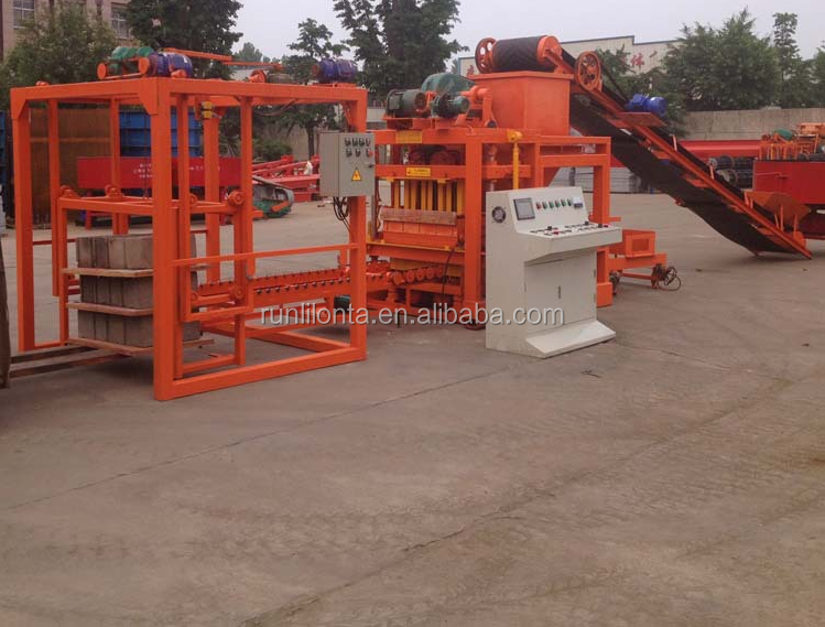 QTJ4-26C kenya cement interlocking brick making machine