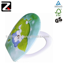Professional hydraulic decorative dual toilet seat