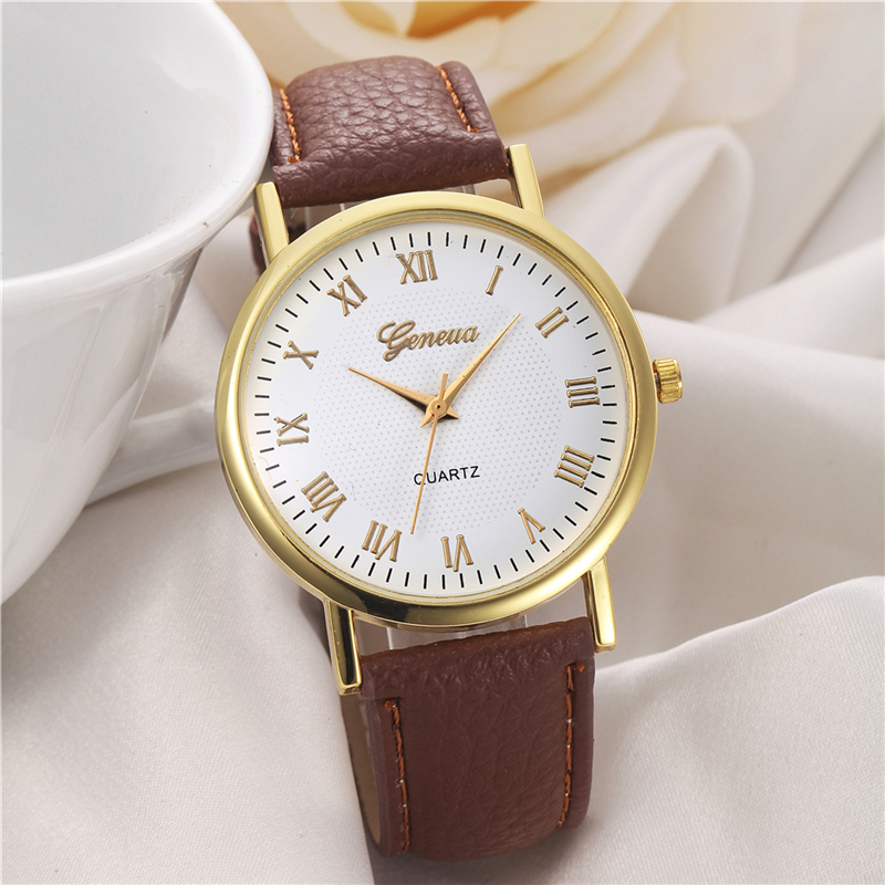 cheap wholesale geneva ladies wrist watch woman