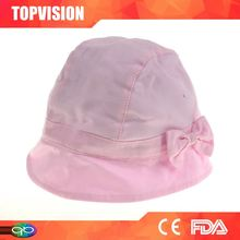 Top sale cheap price hot factory supply 2012 popular white bowknot bucket hat