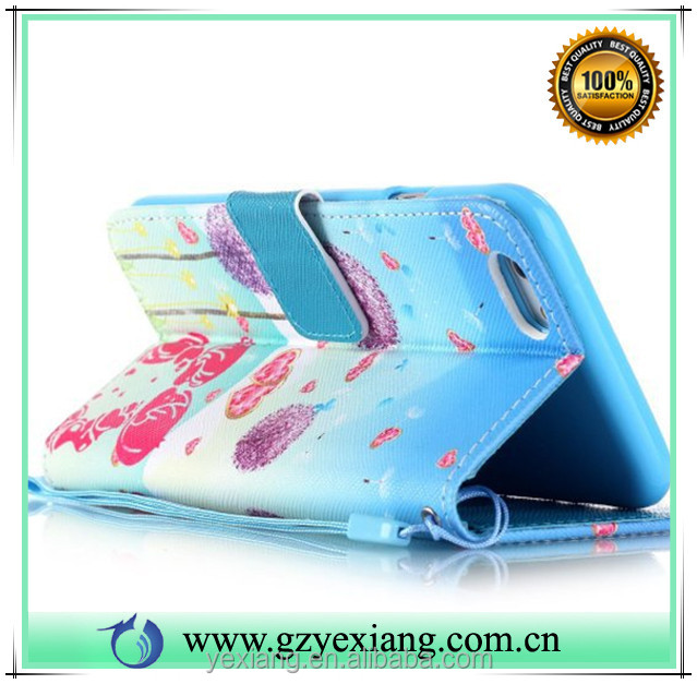 China supplier cell phone accessories pu leather wallet stand case for iphone 5s flip back cover case with card slot
