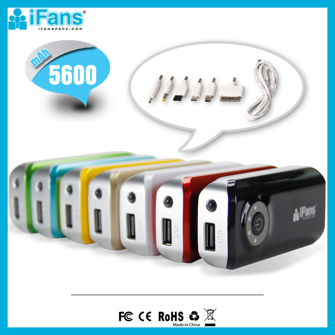 Factory Offer Pocket Emergency Charger 5600 mAh Rohs