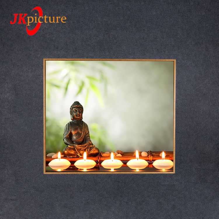 New products hot sale buddha picture home decor oil paintings on framed canvas
