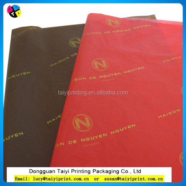 Food grade in Tissue paper for wrapping food luxury florist with design colored for wrapping
