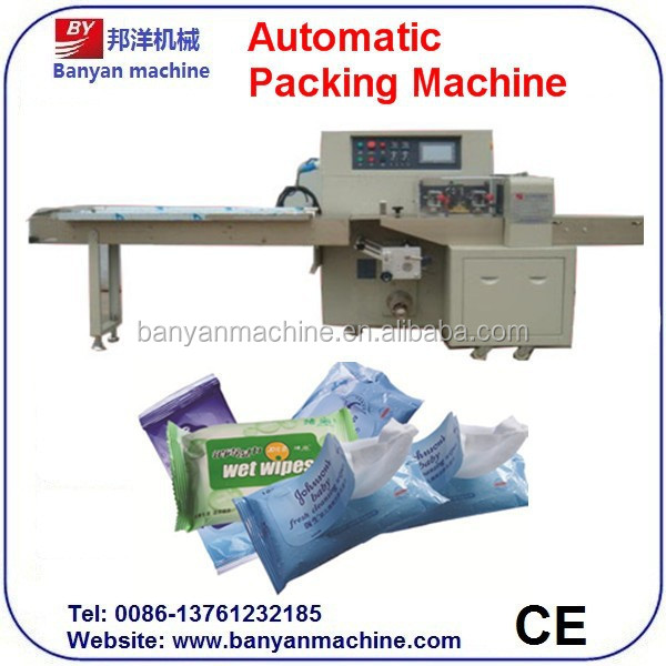 BY-2000 Automatic Wet Wipes/Towel/Tissue Packaging Machine/0086-18516303933