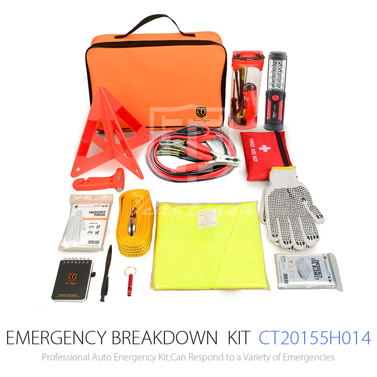 81pcs High Quality Car Accessories Of Safety Roadside Emergency Kit With Booster Cable