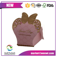 Elegant packaging box wedding favor design