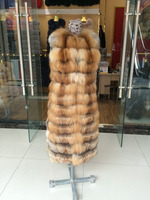 Hot Selling Genuine Red Fox Fur Vest / Long style Fox Fur Waist Coat For Winter