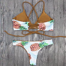 Wholesale Bathing Suits Beachwear New Arrivals Nylon Sexy Fahion Fruit Bikini Pineapple Two Pieces Swimsuits for Women