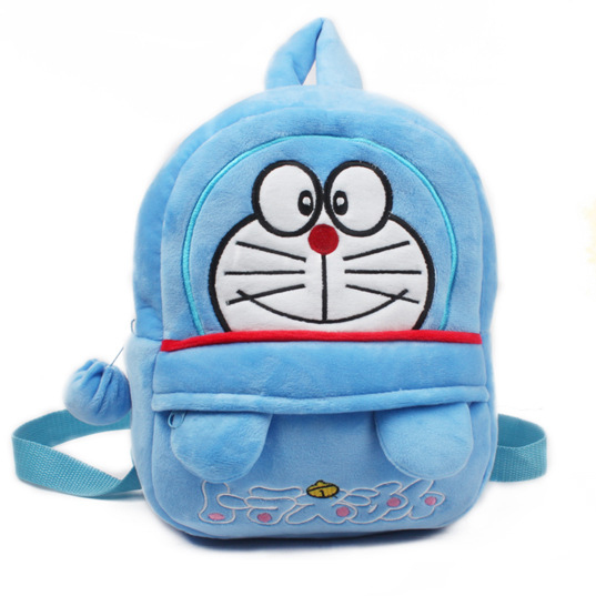 Wholesale Manufacturers Cheap Cute Blue Cartoon school bag animal plush backpack for children
