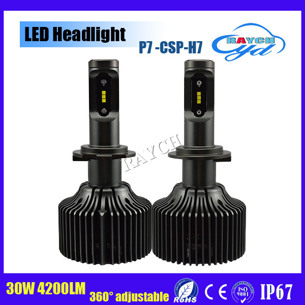 Newest P7 auto led headlight with CSP chips more than 4200LM H4 H7 H11 9005 9006 H13 led