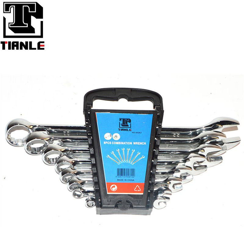 TIANLE Multi-purpose flexibility 8 PC combination wrench with mirror polish