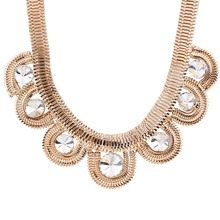 Solememo China Factory Price Wholesale Alloy Chain Statement Wedding Fashion Jewelry N3537