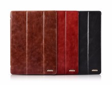 ICARER Portable Vintage Genuine Leather Folio Case for iPad Pro 9.7