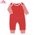 Wholesale Onesie Newborn Baby Clothes Long Sleeve Red Striped Cotton Baby Rompers