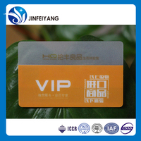Low factory price custom transparent business card